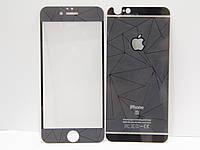 Защитное стекло для телефона iPhone 6/6S с окрашенной рамкой, перёд и зад, темно серая, фото 1