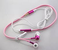 Светящиеся наушники на молнии Zipper с микрофоном фиолетовые