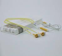 Светящиеся наушники на молнии Zipper с микрофоном желтые
