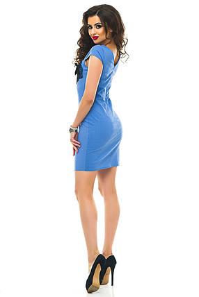 Платье 332 лен голубое размер 44, фото 2