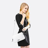 Женская сумочка клатч Tony Bellucci белая натуральная кожа