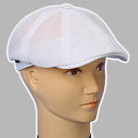 Белая мужская кепка льняная восьмиклинка раз 56 57