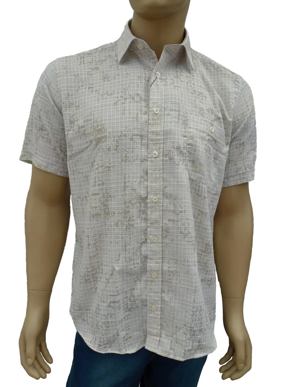 Оливковая рубашка короткий рукав