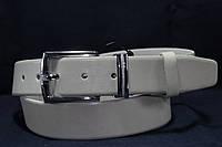 Светлый кожаный гладкий ремень 35 мм, фото 1