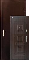 Двери ZIMEN Министр  2-х контурная Темный орех Металл