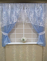 "Кухонные шторы ""Франсуа Лазурь"" , фото 2"