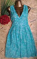 Платье из набивной ткани  B112 мята 46-50р