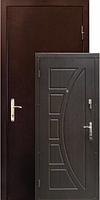 Двери ZIMEN Сфера  1 контурная Темный орех Металл