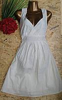 Платье из набивной ткани  B112 белый 46-50р