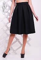 Женская юбка миди Люкс-4 пышная из Габардина