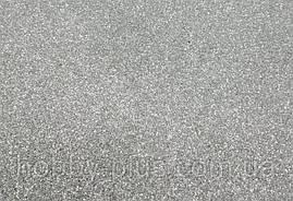 Фоамиран глиттерный 2 мм, 20x30 см, Китай, СЕРЕБРО