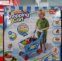 Детская корзина с покупками Супермаркет 661-77, голубая