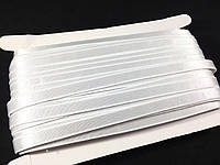Бретель для белья белая / серебро 10 мм