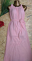 Платье+пояс Венера 13410 пудра 44-52р