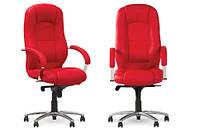 Кресло кожаное для руководителя «Modus steel chrome» LE