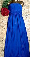 Платье в пол бюстье Аврора 8257 синий 42-48р