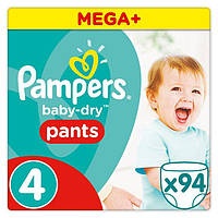 Подгузники-трусики Pampers Pants Maxi 4 (9-14 кг) Mega Pack,94 шт.