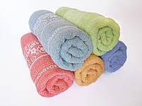 Махровое банное полотенце 140х70см (ромашки)