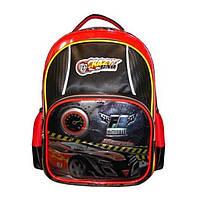 Рюкзак школьный для мальчика Class 9744 черно-красный Чехия