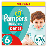 Подгузники-трусики Pampers Pants Extra Large 6 (16+ кг) Mega Pack, 76 шт.