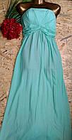 Платье в пол бюстье Аврора 8257 мята 42-48р