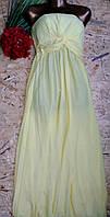 Платье в пол бюстье Аврора 8257 желтый 42-48р