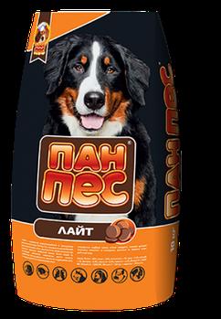 Сухой корм Пан Пес Лайт склонных к ожирению и малоподвижных собак, 10 кг