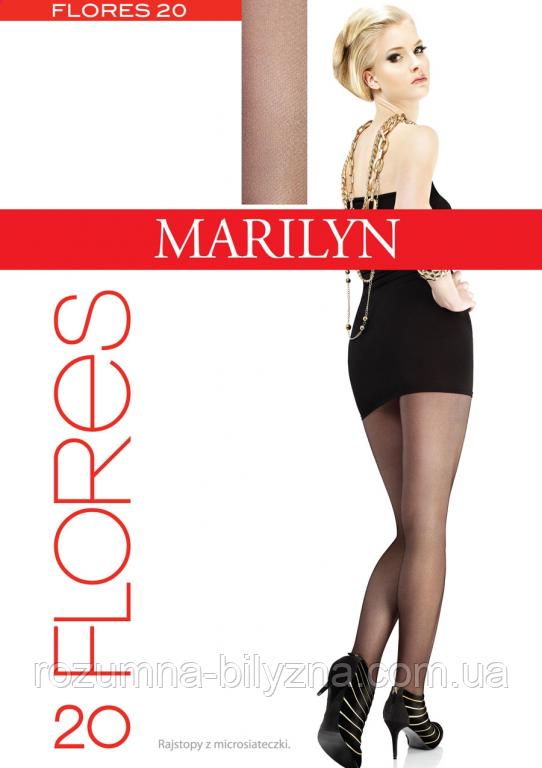 Колготи жіночі  FLORES 20den nero  ТМ Marilyn. 2. 3. 4