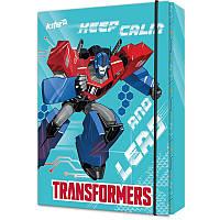 Папка для тетрадей на резинке картонная,В5 Transformers TF17-210