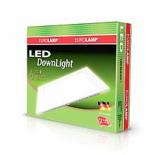 Світлодіодний квадратний світильник врізний EUROLAMP Downlight 6W 3000K