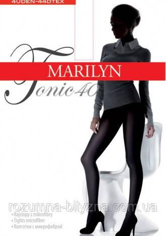 Marilyn TONIC 40 den женские колготки красные,4L