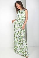 Длинное летнее платье из шелка 2 цвета