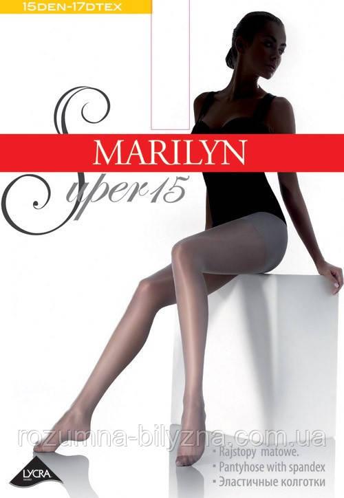 Marilyn SUPER 15 den женские колготки черные ( nero )
