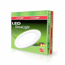 Світлодіодний круглий світильник врізний EUROLAMP Downlight 6W 4000K