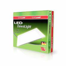 Світлодіодний квадратний світильник врізний EUROLAMP Downlight 6W 4000K