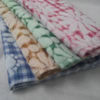 Красивые махровые салфетки для кухни с цветами