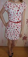Женские платья с поясом  (S–XL, маломеры)