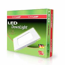Світлодіодний квадратний світильник врізний EUROLAMP Downlight 4W 3000K