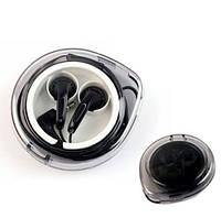 Чехол для наушников складной с намоткой кабеля пластиковый черный+прозрачный SKU0000727