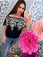 Женская блузка котон с вышивкой