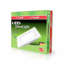 Світлодіодний квадратний світильник врізний EUROLAMP Downlight 4W 4000K