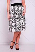 Легкая юбка больших размеров Тина белая
