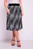 Легкая юбка больших размеров Тина серая