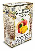 """Черный чай """"Mango & Peach"""" (Манго и Персик) - Bonaventure 100 г."""