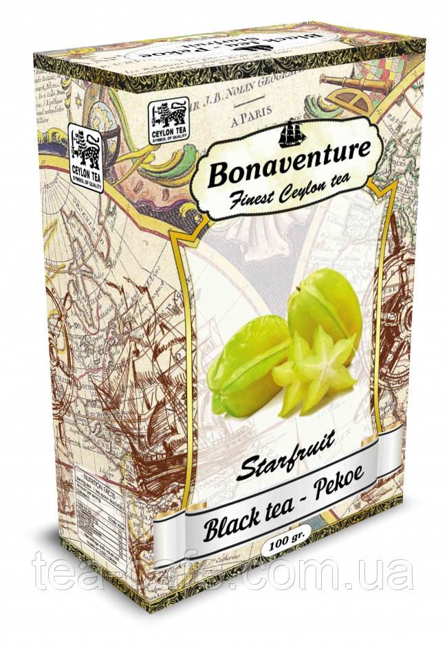 """Черный чай """"Starfruit"""" (Карамболь) - Bonaventure 100 г."""