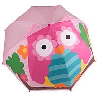 Зонт детский 3D D-55  pink owl