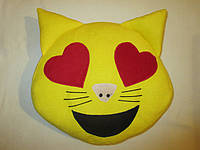 """Подушки смайлики Emoji 35 см """"Влюблённый кот"""""""