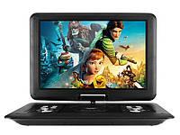 Портативный DVD Плеер Portable NS-1580 Game EVD USB CD TV FM 20 Дюймов am