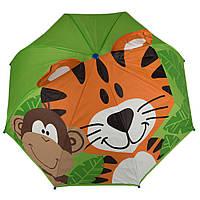 Зонт детский 3D D-55 tiger and monkey