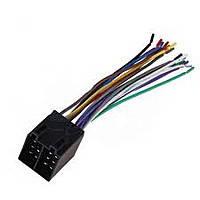 Разъем автомагнитолы ISO (штекер) сдвоенный с кабелем